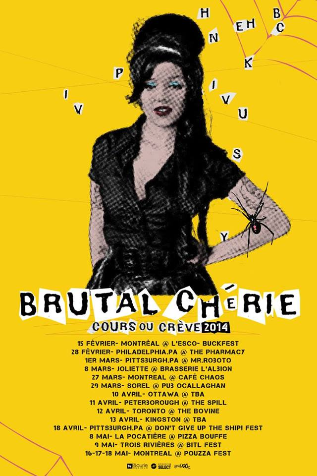 brutal cherie tour poster