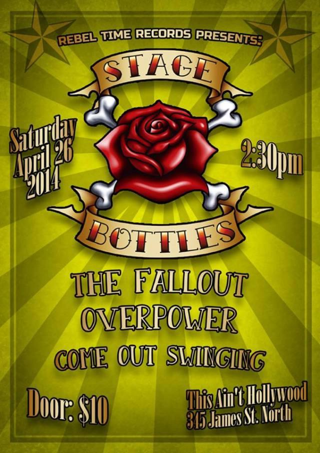 stage bottles concert